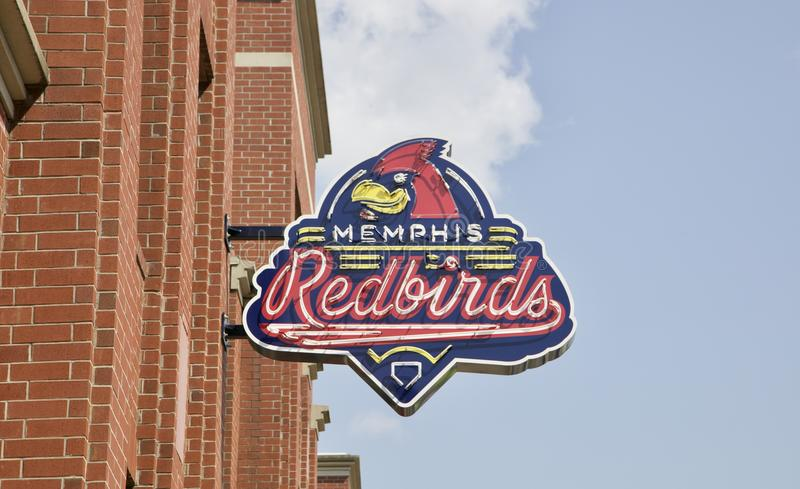 Memphis Redbirds Baseball Team royalty free stock image
