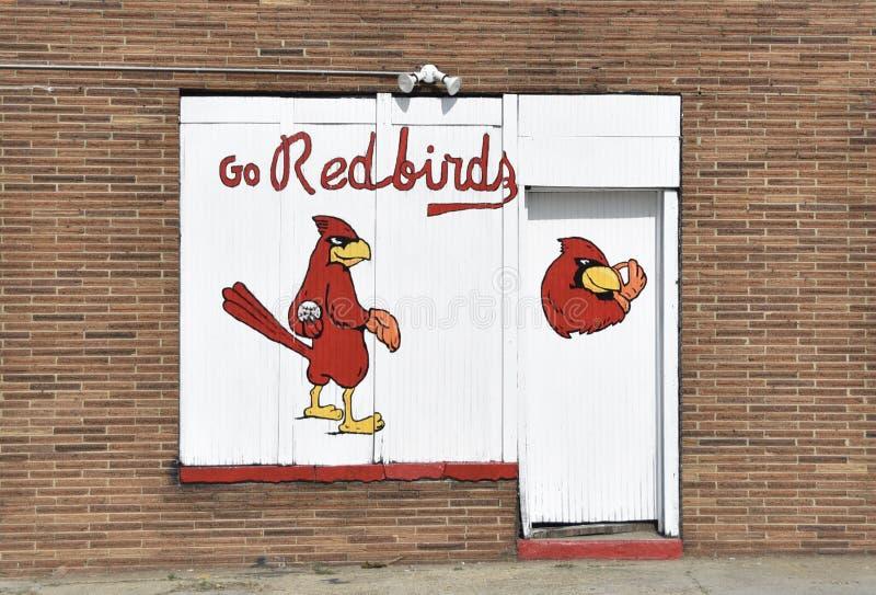 Memphis Redbirds Baseball Team Painting royaltyfri foto