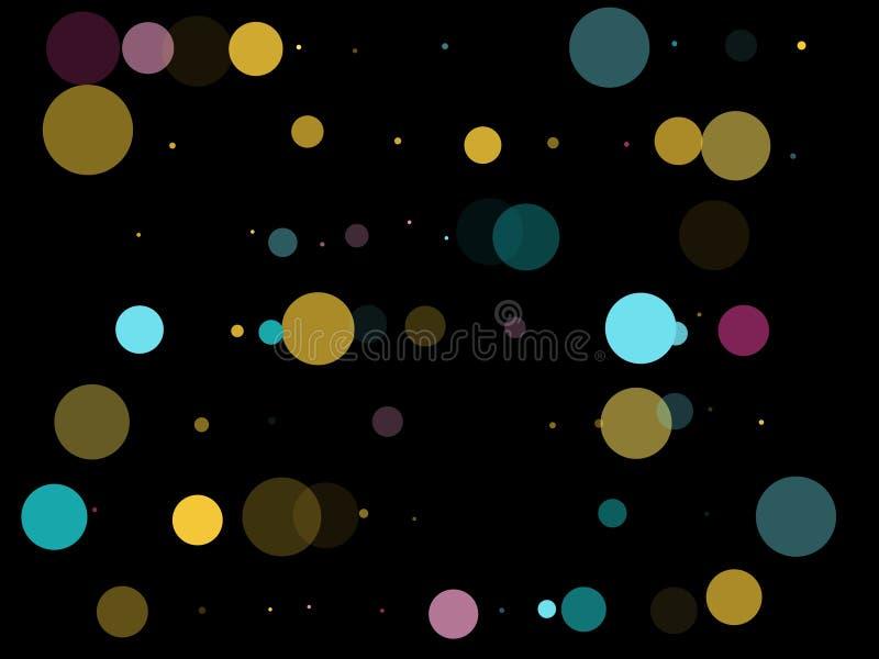 Memphis round confetti świąteczny tło w cyan błękicie, menchia i ilustracji