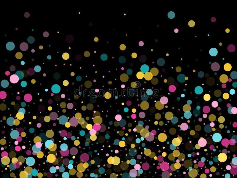 Memphis round confetti ?wi?teczny t?o w cyan b??kicie, menchiach i kolorze ? royalty ilustracja