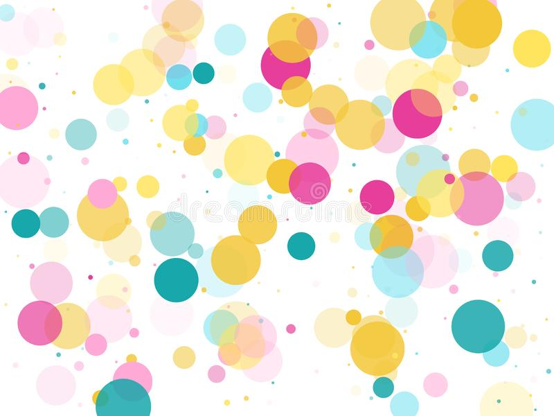 Memphis round confetti ?wi?teczny t?o w cyan b??kicie, menchiach i kolorze ? ilustracji