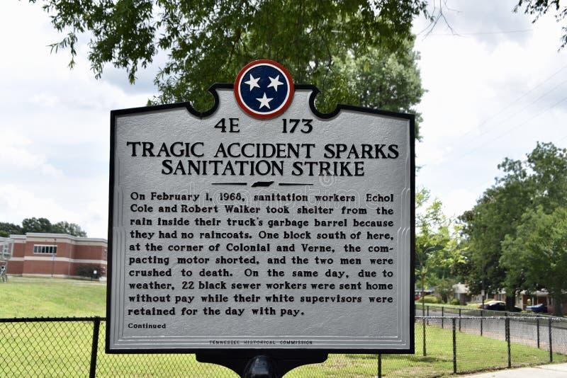 Memphis Sanitation Strikes Marker, Memphis, TN images stock