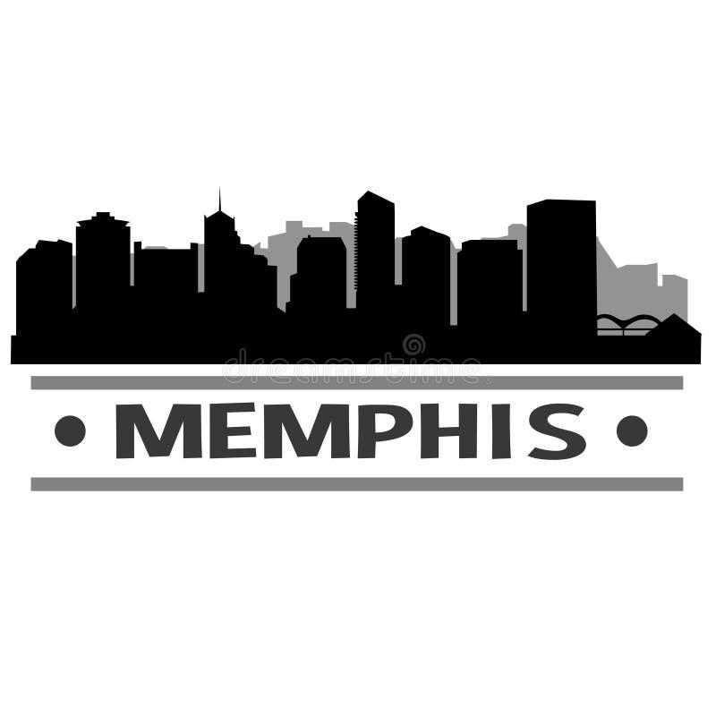 Memphis Skyline City Icon Vector Art Design illustration libre de droits
