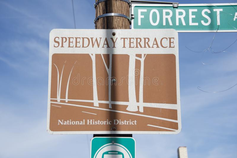 Memphis Speedway Terrace Historic District stock photo