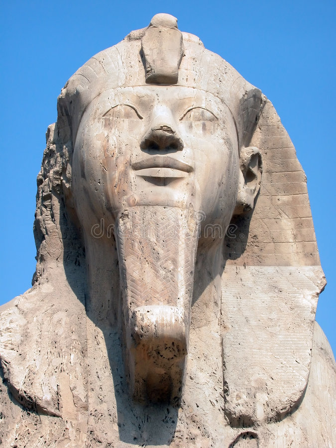 The Memphis Sphinx, Egypt. The alabaster Sphinx at the anciet capital of Memphis, Egypt stock photos