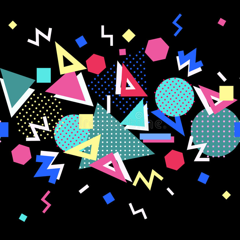 Memphis style background. vector illustration