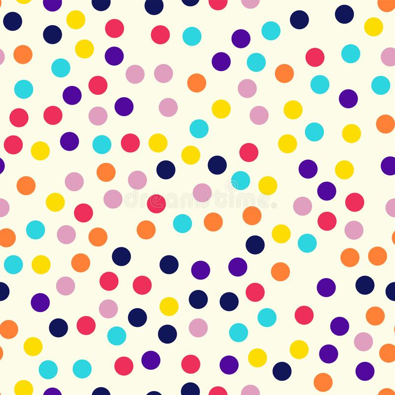 Memphis style polka dots pattern on milk. vector illustration