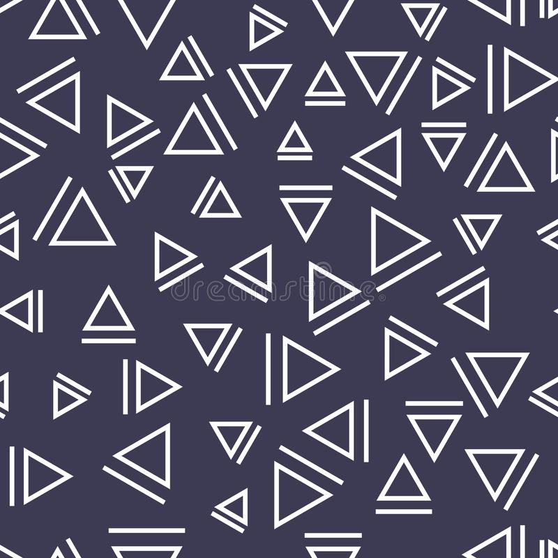 Memphis style triangle seamless pattern. Background royalty free illustration