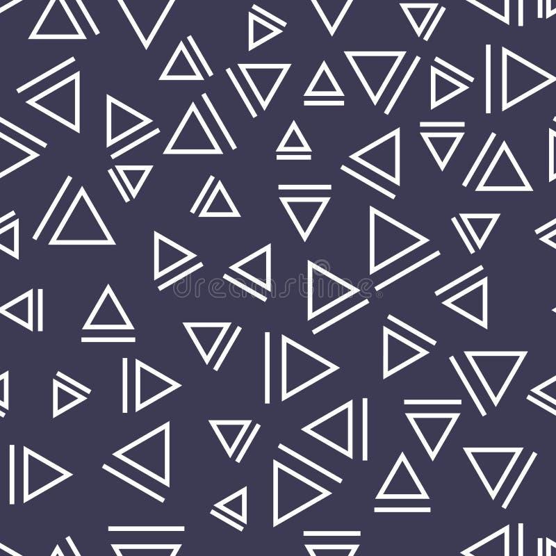 Memphis stylu trójboka bezszwowy wzór royalty ilustracja