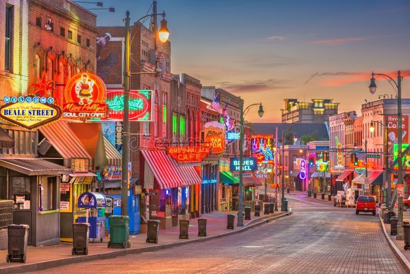 Memphis Tennessee Beale ulica fotografia royalty free