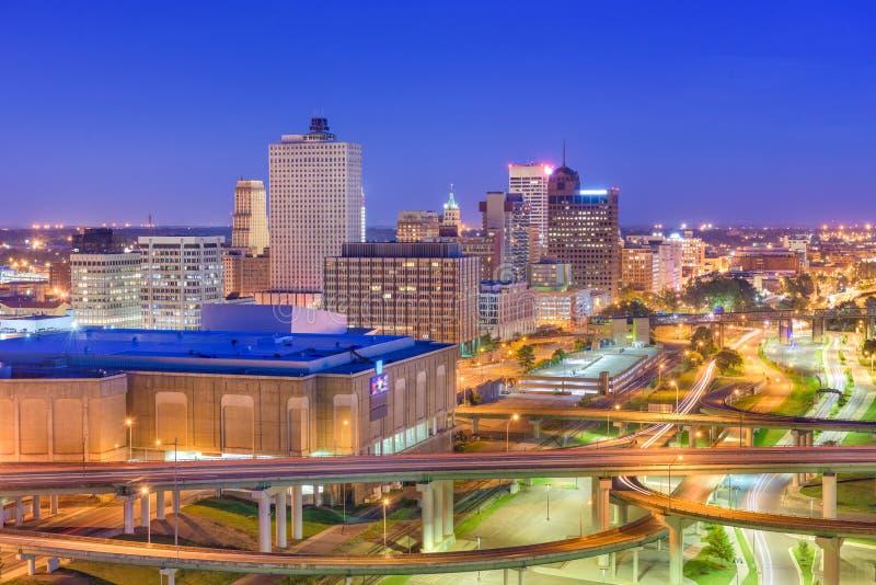 Memphis, Tennessee, skylin del centro della città di U.S.A. immagini stock libere da diritti
