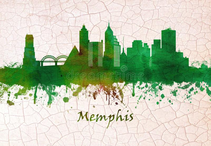 Memphis Tennessee Skyline royalty-vrije illustratie