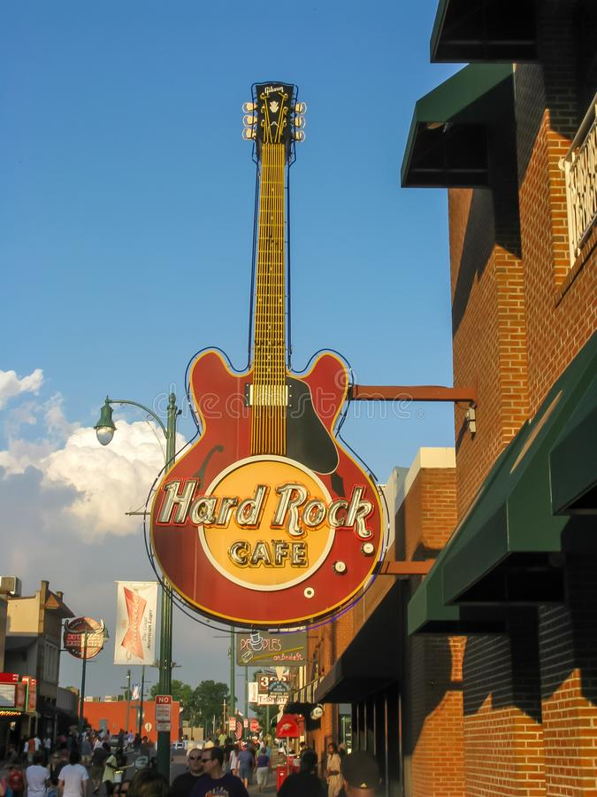 Memphis Beale Street Hard Rock Guitar stock photography