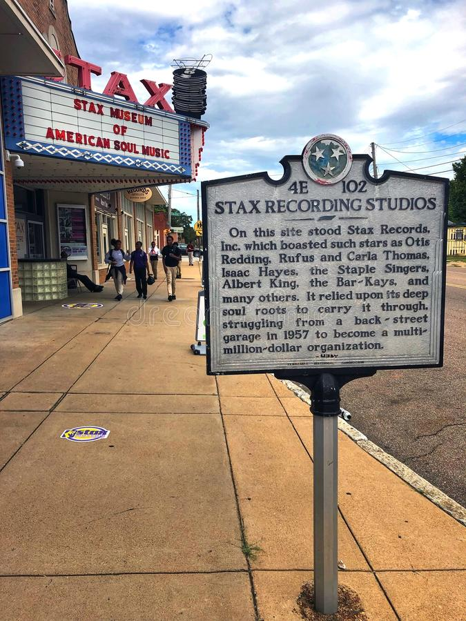 The Stax Museum of American Soul Music, Memphis, TN. Memphis, TN, USA - September 24, 2019:  The Stax Museum of American Soul Music, built on the site of the royalty free stock photography