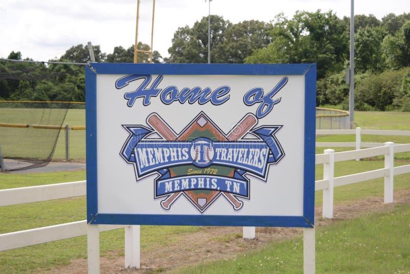 Memphis Travelers Baseball Team fotografia de stock royalty free