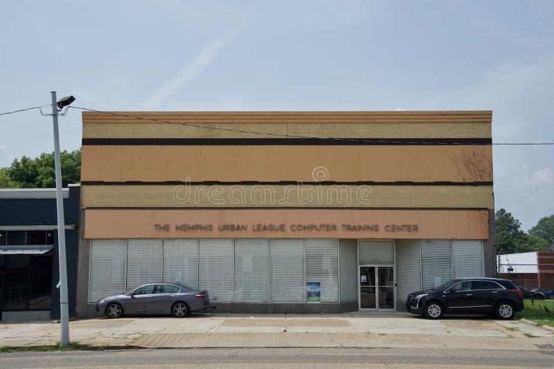 Memphis Urban League Computer Training-Centrum stock foto's