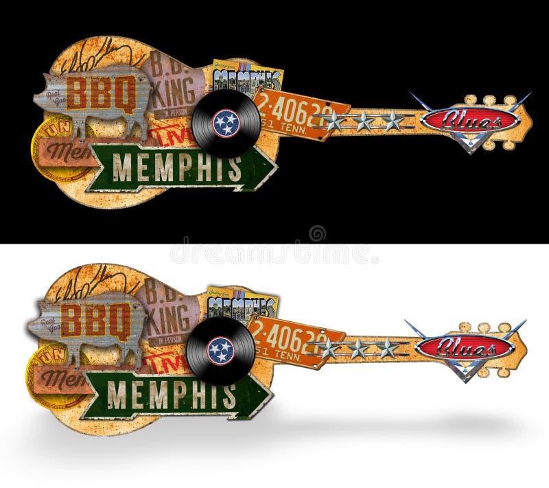 Memphis Vintage Folk Art Sign fotografía de archivo libre de regalías