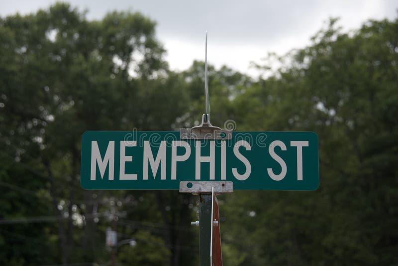 Memphis znak uliczny obrazy royalty free