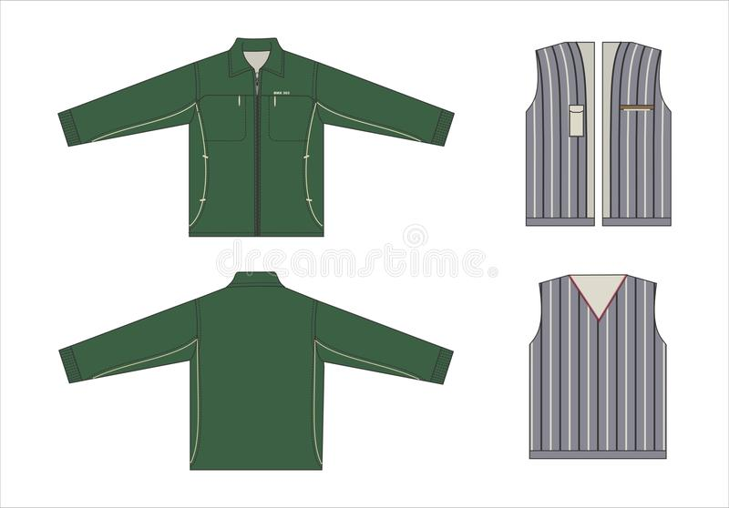 Mens Clothes Templates Vector Stock Illustration Of Design