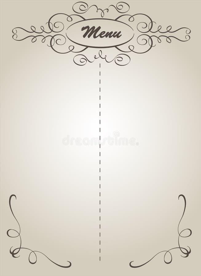 Menú stock de ilustración