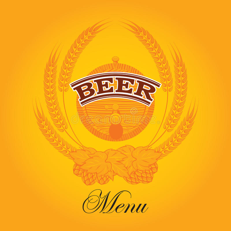 Menú de la cerveza libre illustration