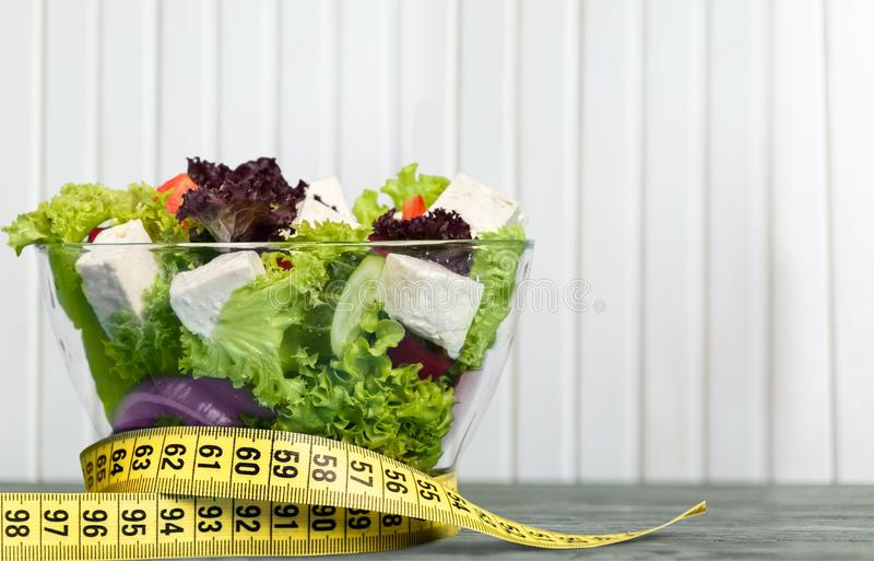 Menú de la comida de la dieta fotografía de archivo