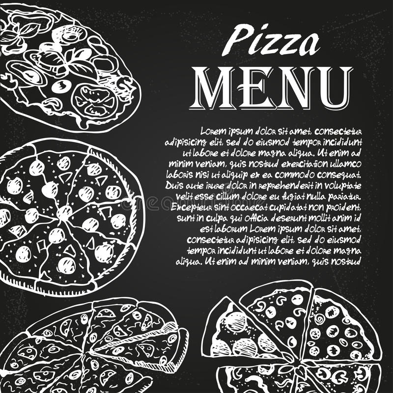 Menú 1 de la pizza libre illustration