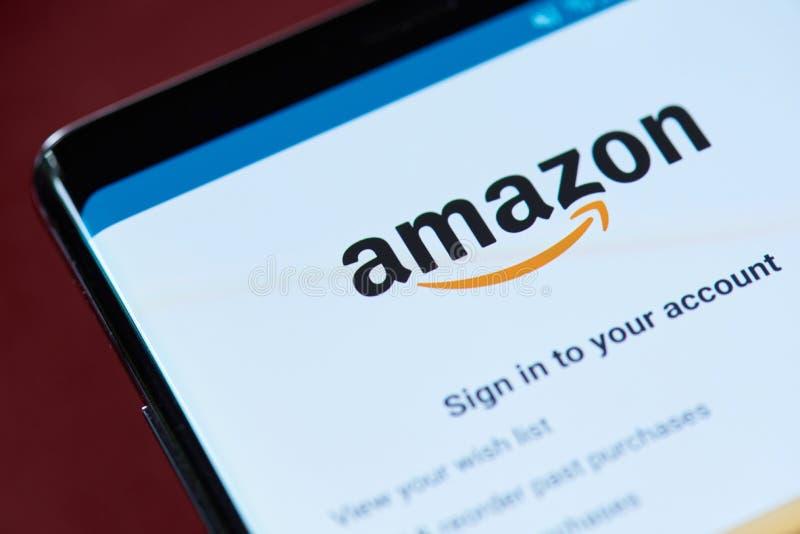 Menú del app del Amazonas imagen de archivo libre de regalías