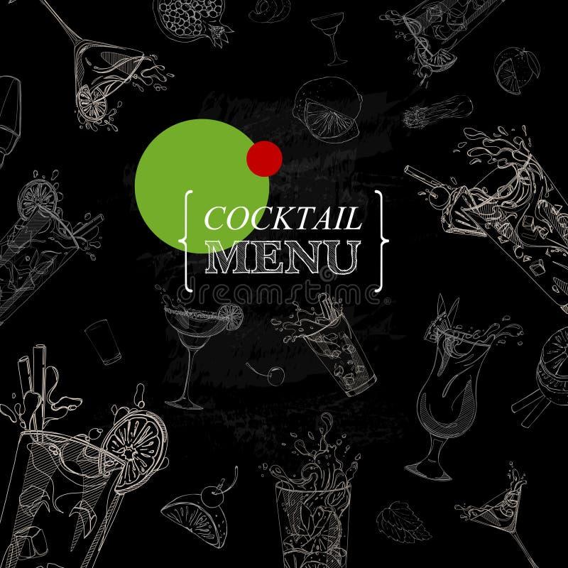 menú del cóctel stock de ilustración