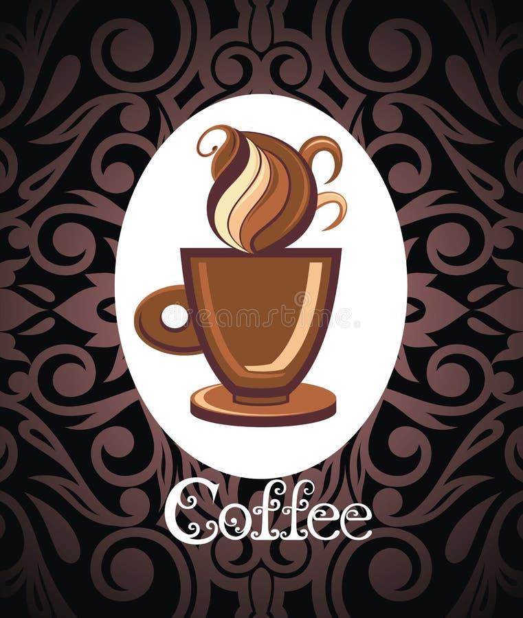 Menú del café Tazas de café Logo Template Diseño del icono del vector del café ilustración del vector