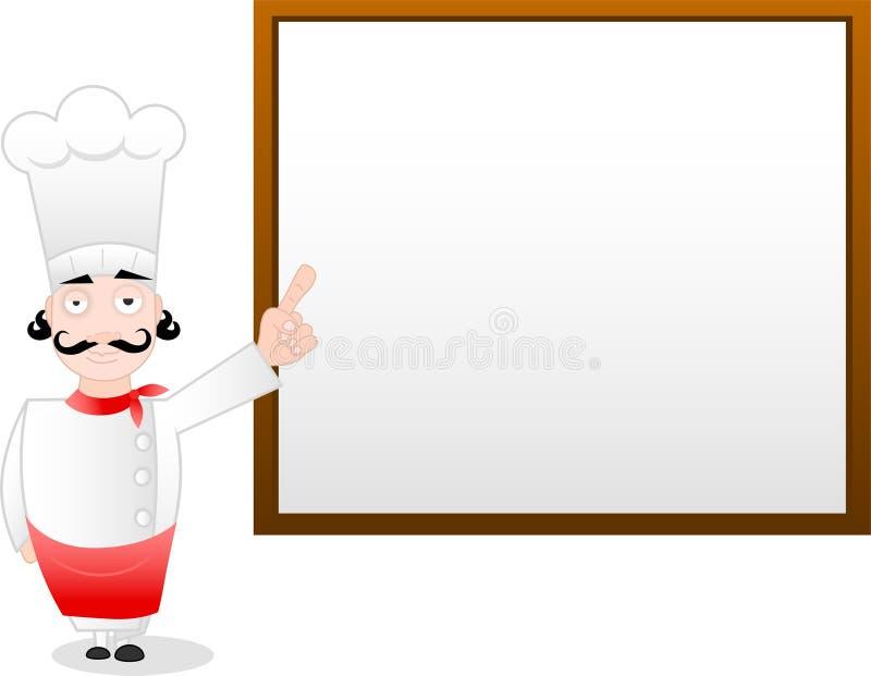 Menú del cocinero stock de ilustración