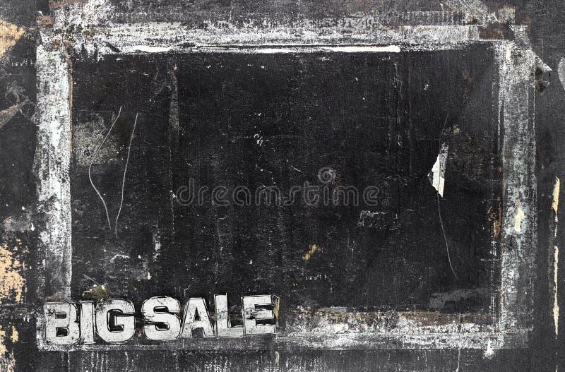 Menú del garabato del grunge de la venta fotografía de archivo