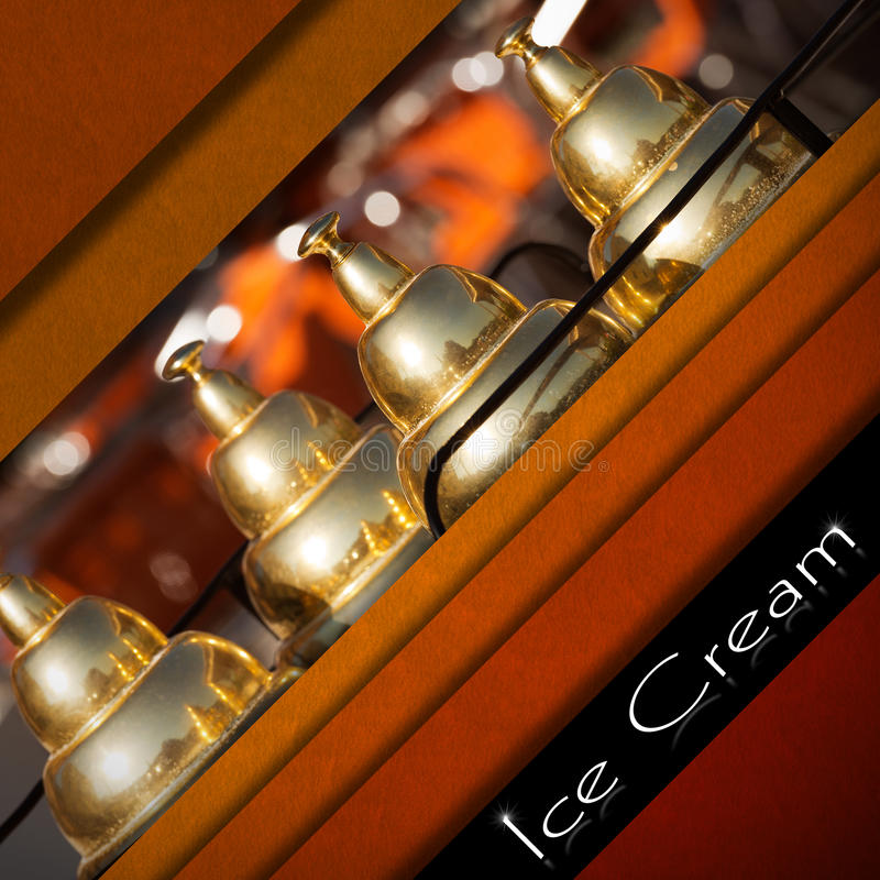 Menú del helado ilustración del vector