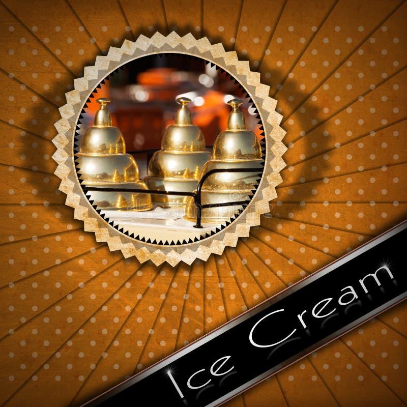 Menú del helado stock de ilustración