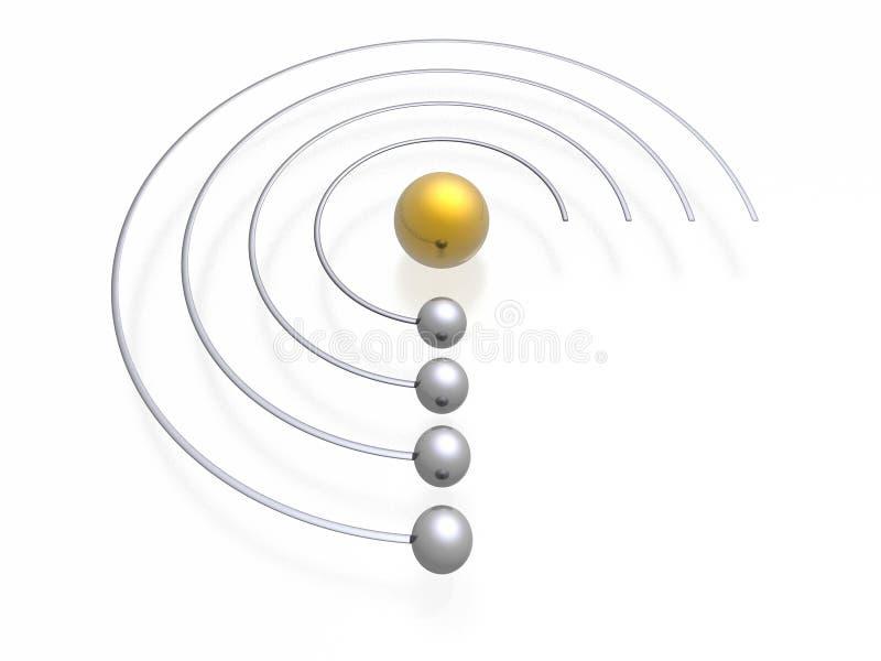 Menú del homepage ilustración del vector