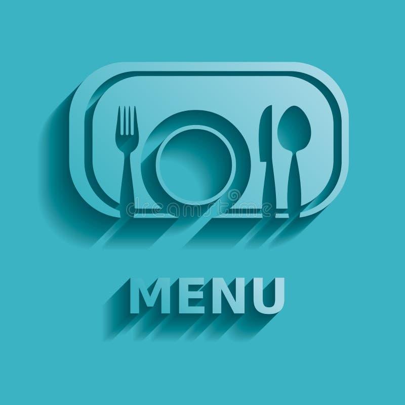 Menú del restaurante ilustración del vector