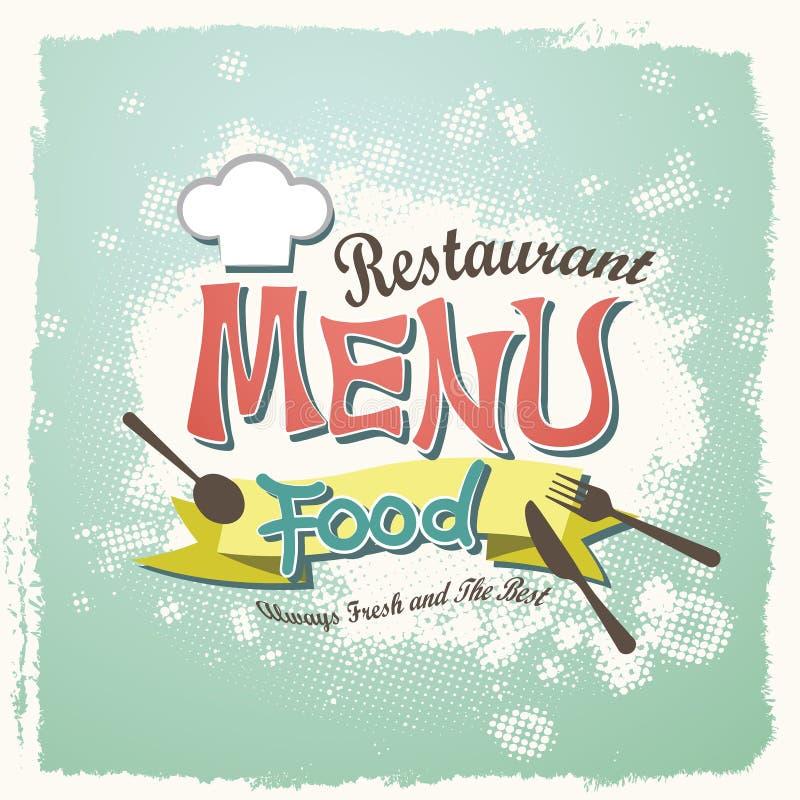 Menú del restaurante stock de ilustración