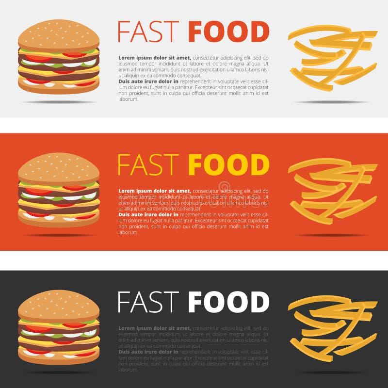 Menú del restaurante de los alimentos de preparación rápida libre illustration