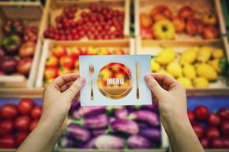 Menú del vegano fotos de archivo libres de regalías