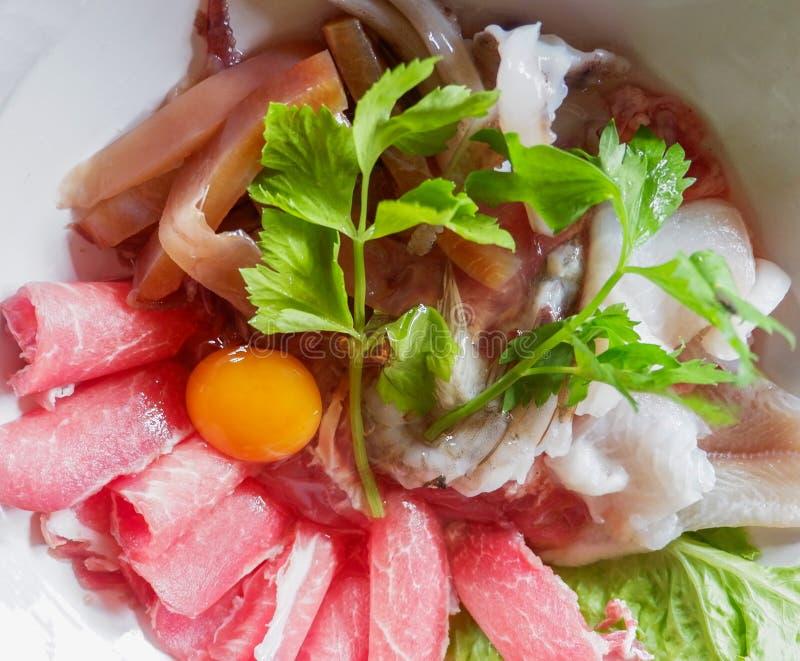 Menú determinado de la carne de vaca de Sukiyaki, pote caliente, Shabu imágenes de archivo libres de regalías