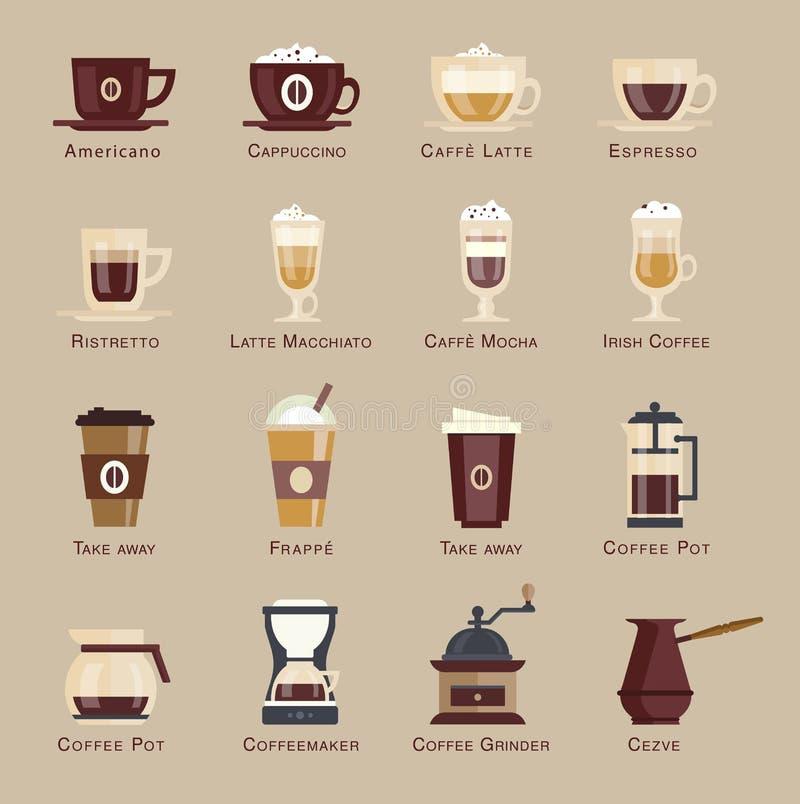 Menú determinado del icono del vector del café fotografía de archivo libre de regalías