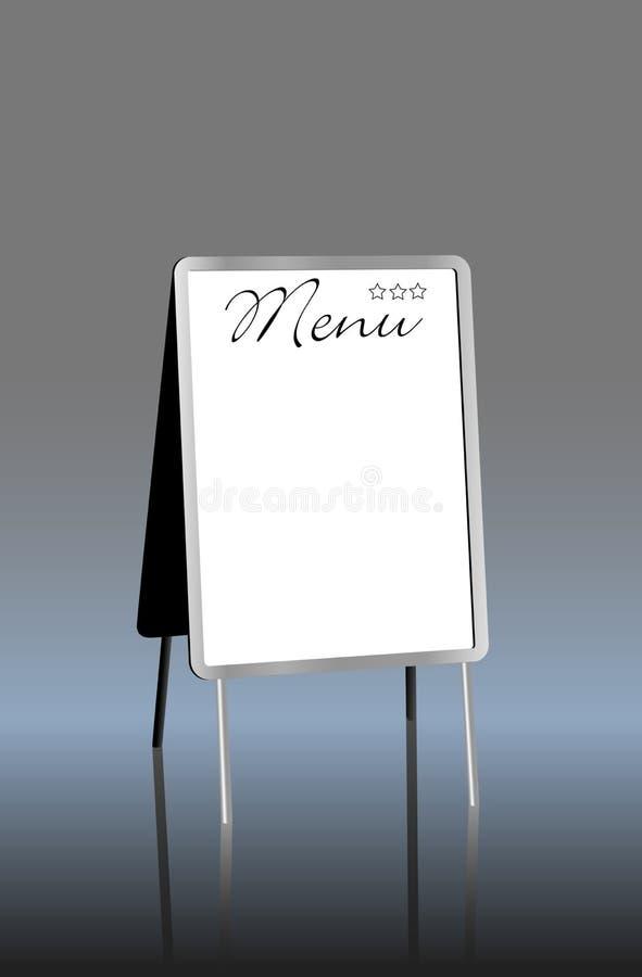Menú en blanco ilustración del vector