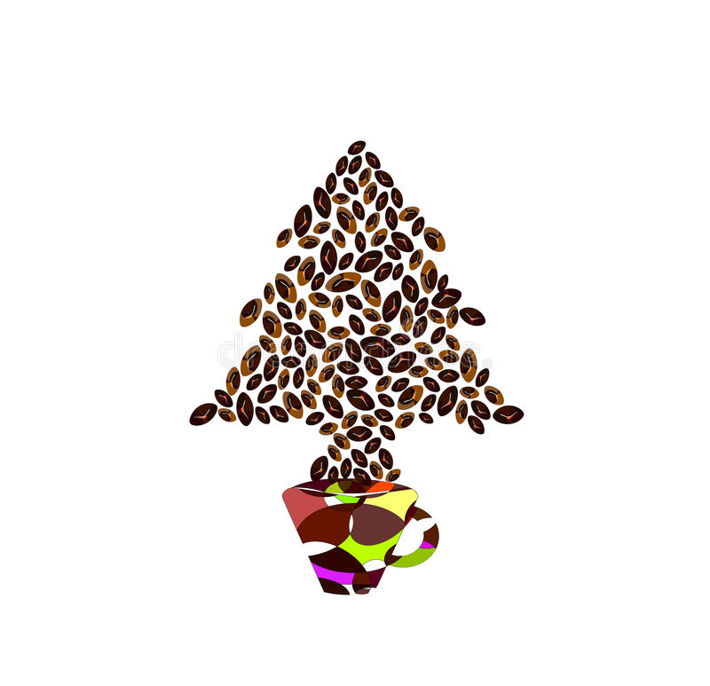 Menú - Feliz Navidad ilustración del vector
