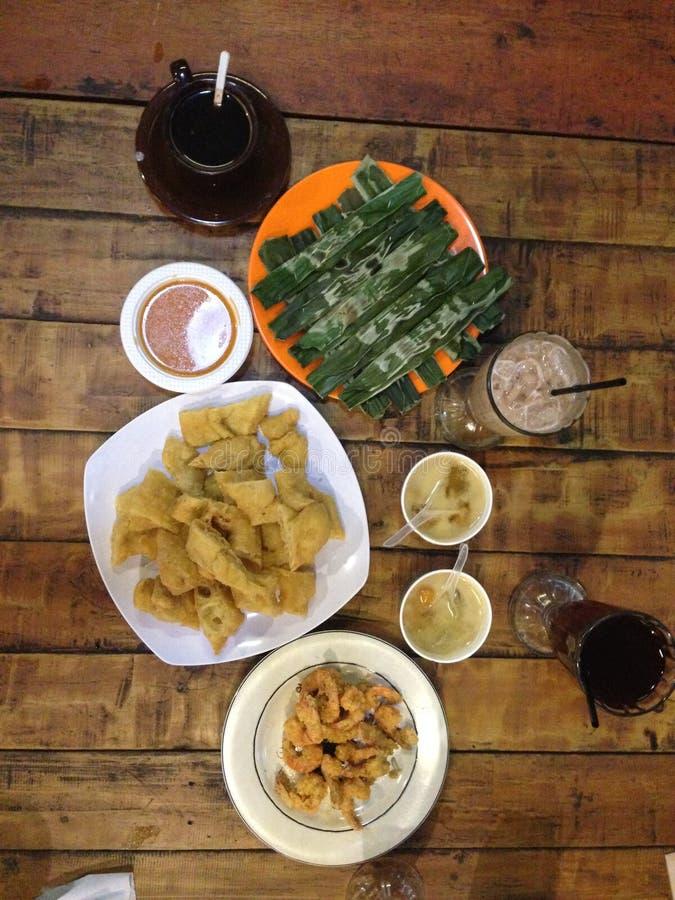 Menú indonesio de la comida imágenes de archivo libres de regalías
