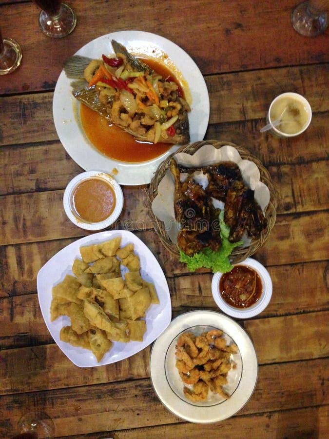 Menú indonesio de la comida imagen de archivo