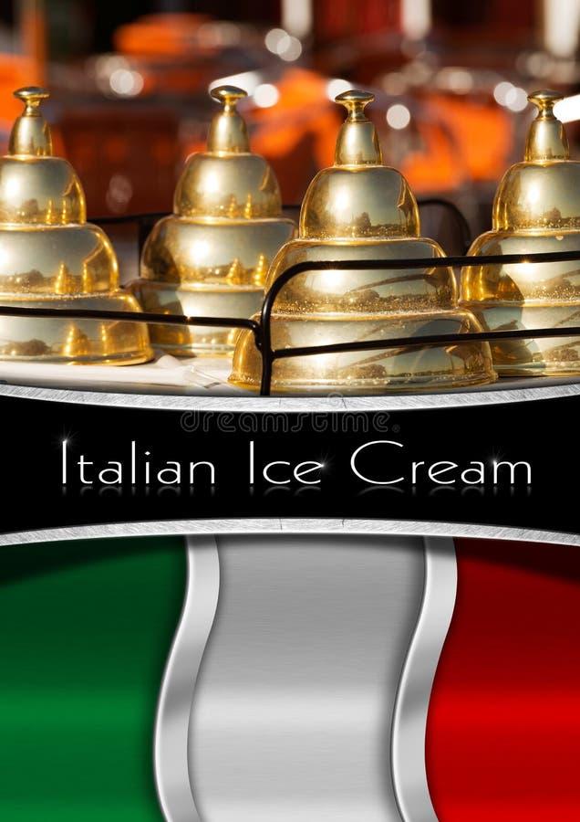 Menú italiano del helado libre illustration