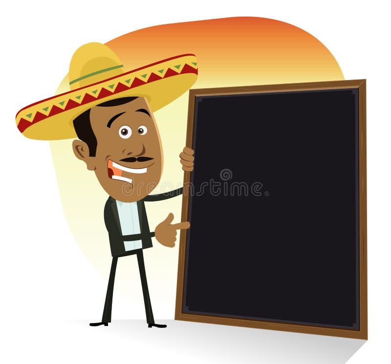 Menú mexicano ilustración del vector