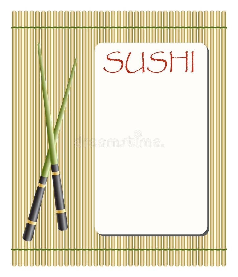 Menú para el sushi y los rodillos libre illustration