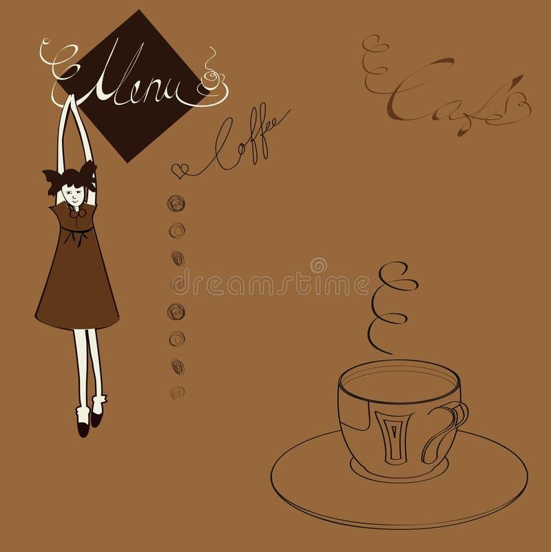 Menü für Kaffee lizenzfreie abbildung