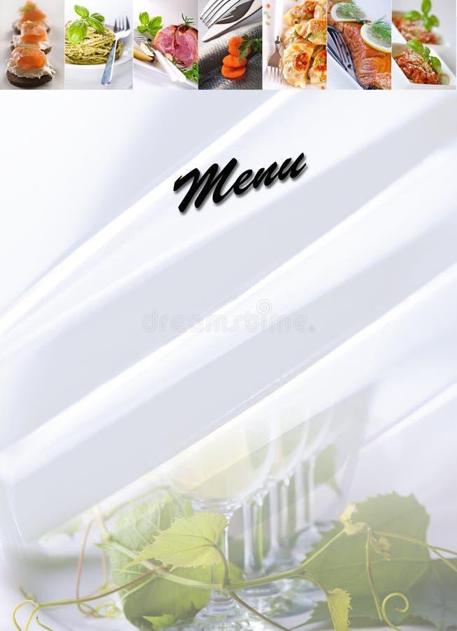 Menü - Nahrungsmittelcollage lizenzfreies stockbild